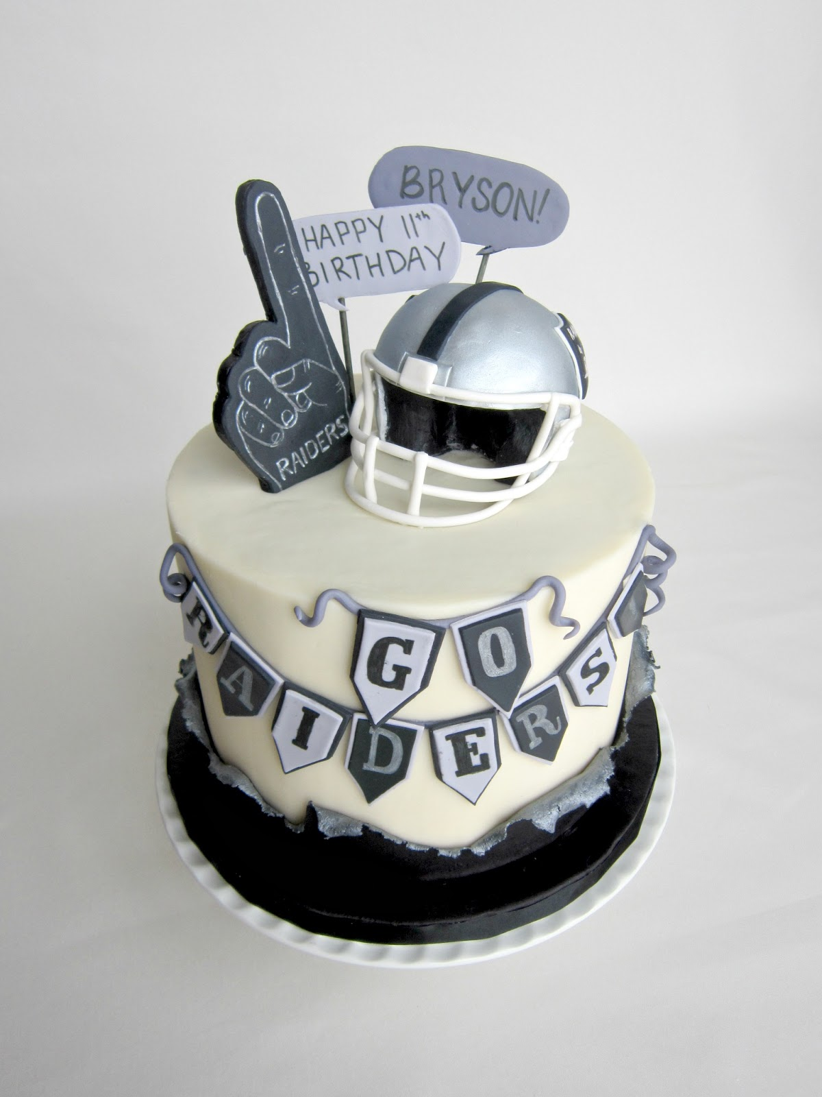 Delectable Cakes Raiders Football Birthday Cake