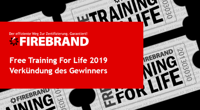Der Free Training For Life Gewinner 2019 ist…