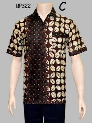 Modifikasi baju batik pria modern lengan pendek