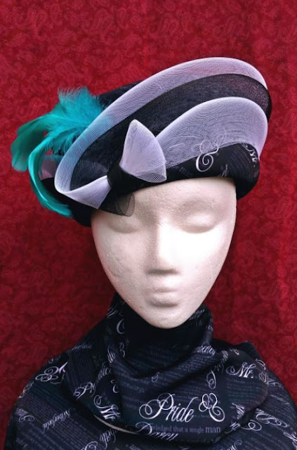 Hat by Wendy Dudley; Pride & Prejudice fabric by eSheep Designs