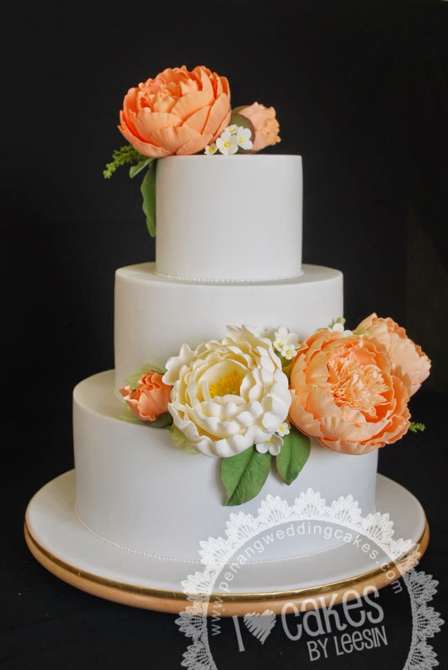 Another Peony Wedding Cake Seems To Be The Por Choice Amongst Bride This Time Is More Specific They Prefer Cabbage Type