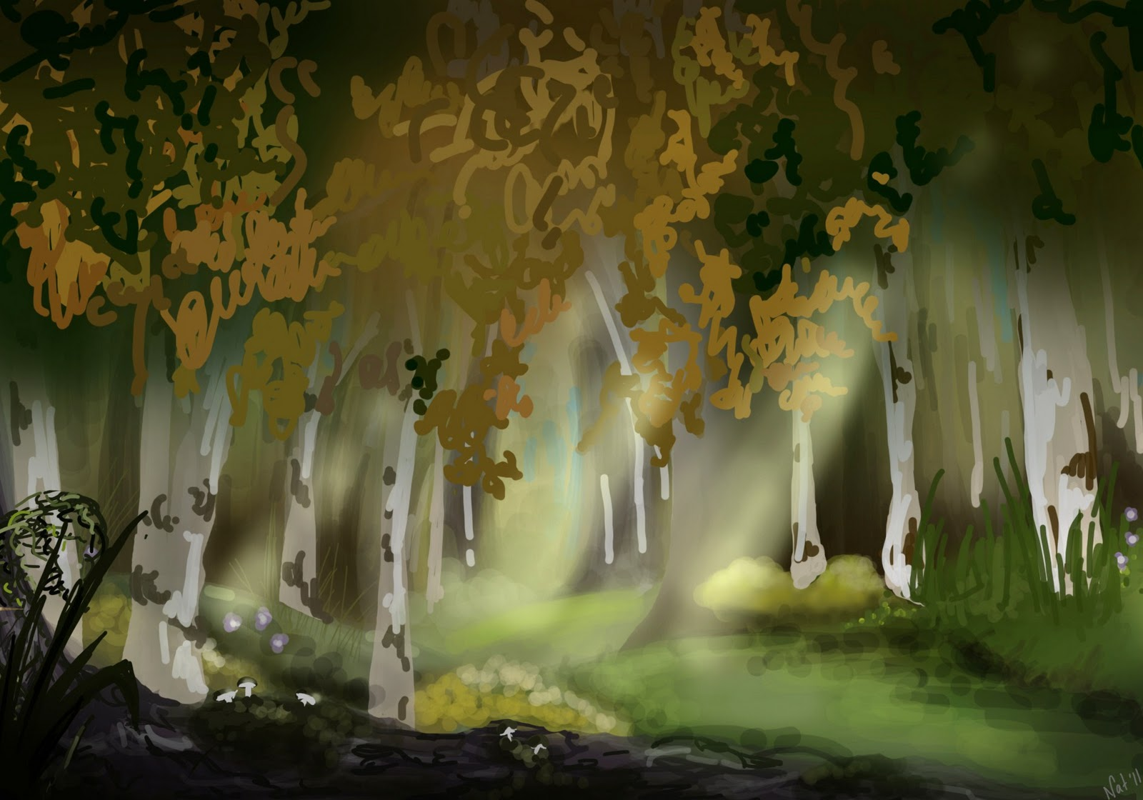 Disney Concept Art Background