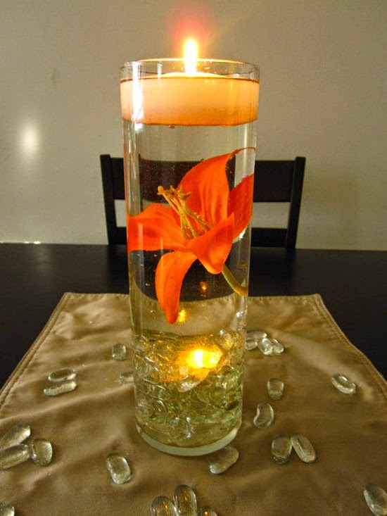Floating Candle Wedding Centerpiece table decoration ideas