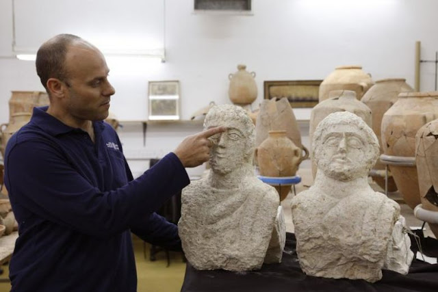 Two Roman busts found in Israel after heavy rains