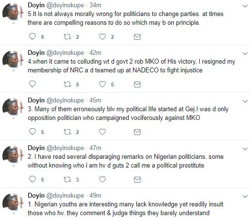 Doyin Okupe replies those calling him a political prostitute