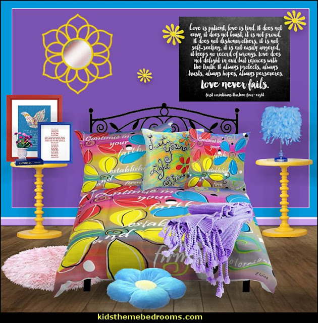 cchristian retro bedroom decorating   Jesus for kids - Bible Stories wall murals - Christian Bible Verse wall decal stickers - Christian home decor - bible verse wall art -  inspirational bedding - Christian bedding - Christian kids toys - Lion and Lamb toddler beds -  bible stories for kids - Christening Baptism Gifts - Psalm bedding - Scripture throw pillows - bible verse throw pillows -  Vacation Bible School Decorations