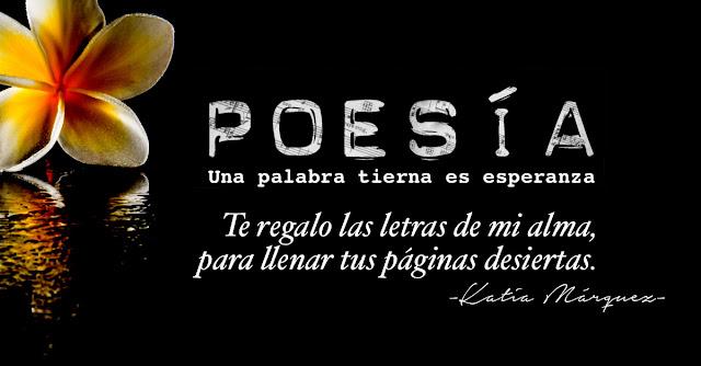 Poesía,una palabra tierna es esperanza,te regalo las letras de mi alma,para llenar tus páginas desiertas.