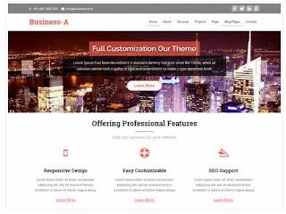 Theme Wordpress Business-A Responsive Free
