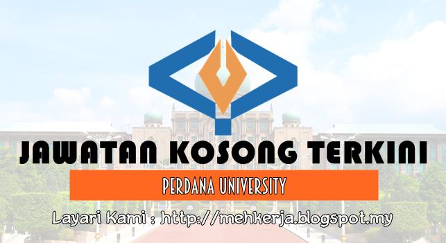 Jawatan Kosong Terkini 2017 di Perdana University