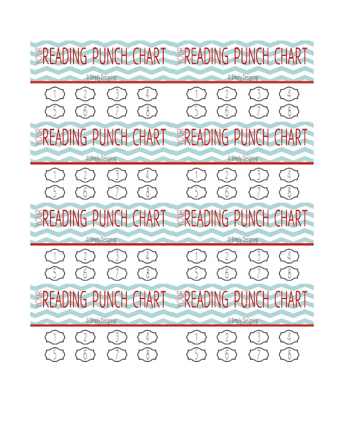 image regarding Printable Reading Chart titled Punch Card Studying Chart
