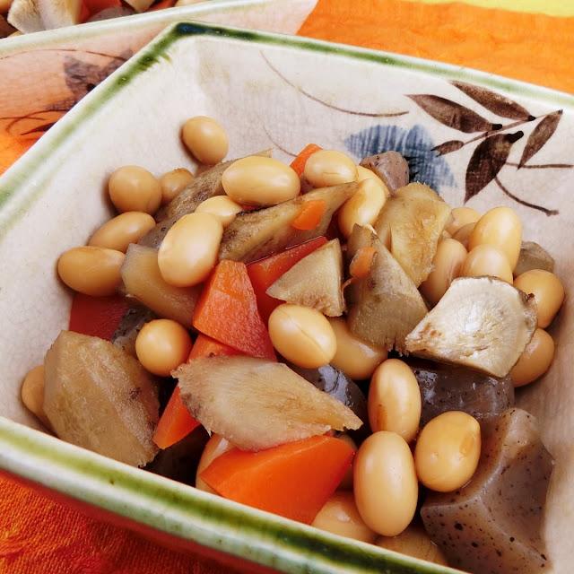 根菜類たっぷり揃う大豆の五目煮は圧力鍋でたった40秒で完成!