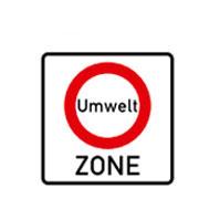 Начало зоны запрета движения  для уменьшения загрязнения воздуха