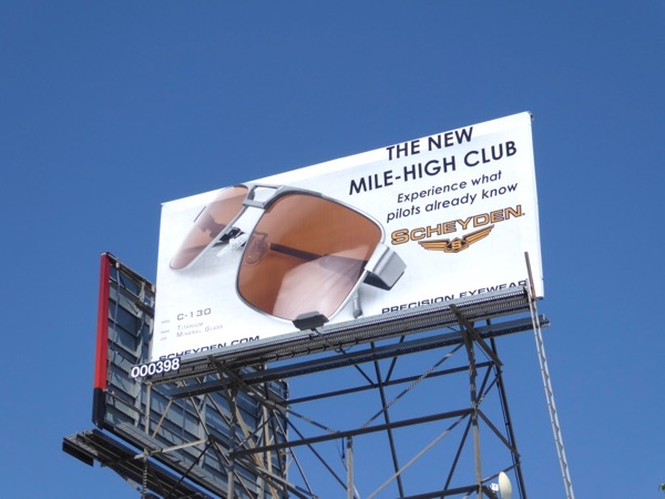 Scheyden eyewear Mile-High Club billboard