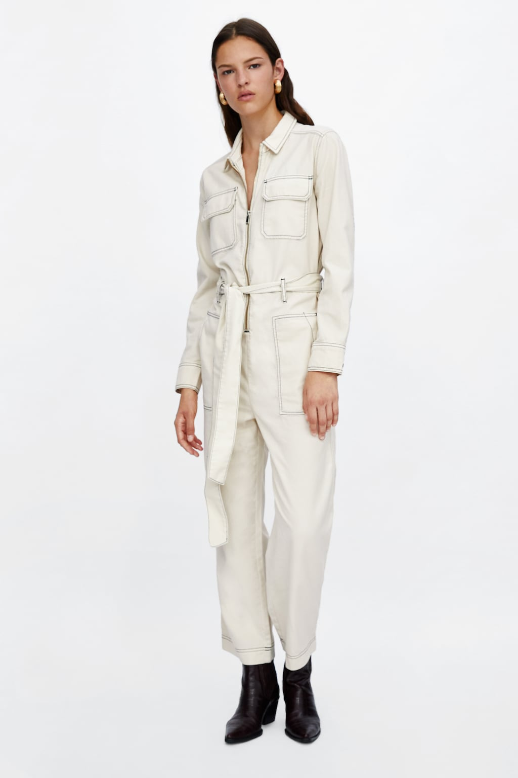 f4e21250430 Felix Boilersuit · LF Markey £190 · Jumpsuit with contrasting topstitching