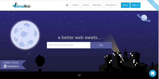 Screenshot 1 - Hari Gini Belum Punya Website? Yuk Ciptakan dan Kreasikan Sekarang dengan DomaiNesia