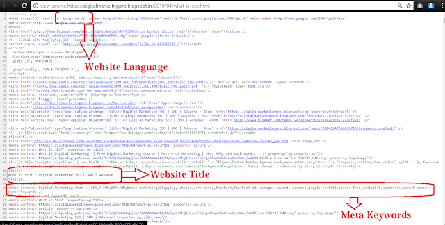 Meta Tags and Website Language