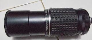 SMC Pentax 200mm f/4 keadaan panjang