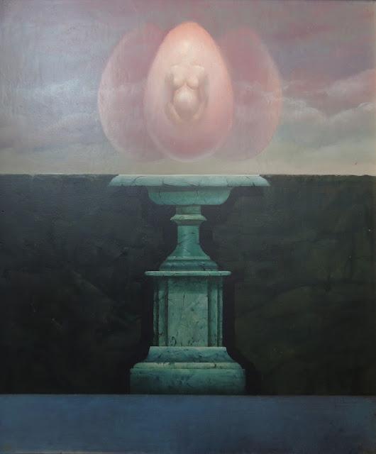 José Marí pintura surrealista arte valencia columna