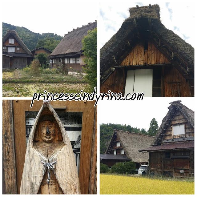 Gassho-style farmhouses