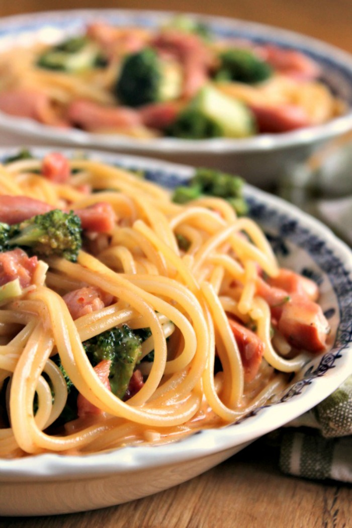 Broccoli and Pancetta Spaghetti