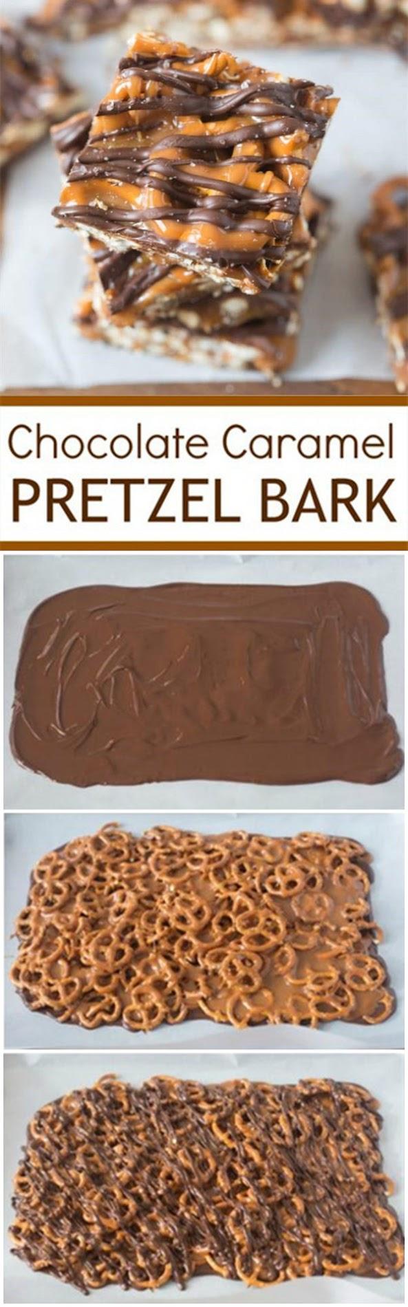 Salted Chocolate and Caramel Pretzel Bars