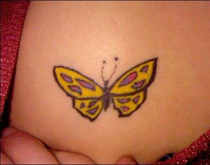 Foto Tattoo Design Butterfly Kupu Di Tubuh Wanita 18