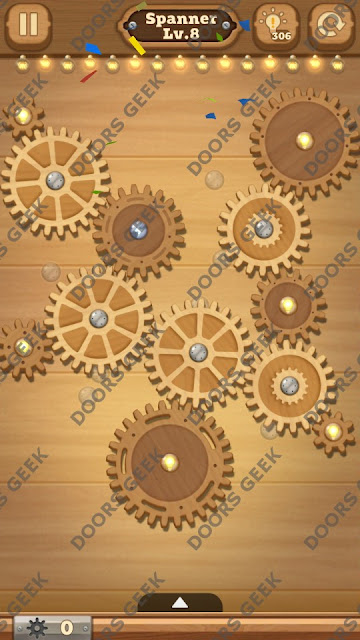 Fix it: Gear Puzzle [Spanner] Level 8 Solution, Cheats, Walkthrough for Android, iPhone, iPad and iPod