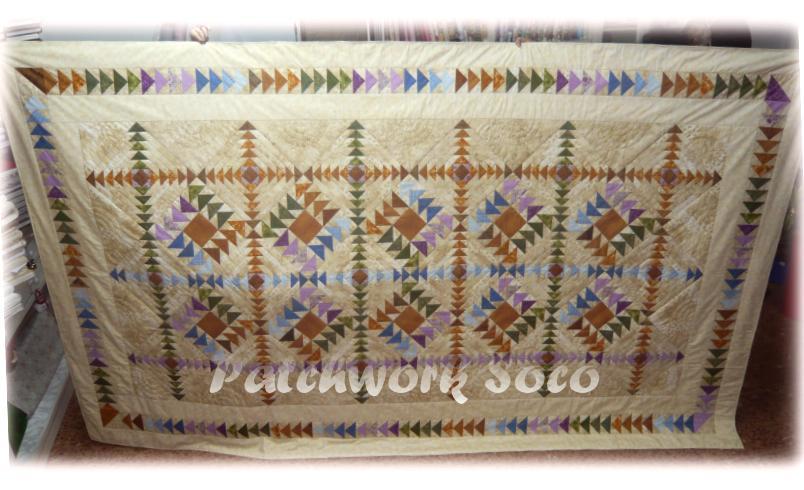 Patchwork soco colchas multicolores vuelo de la oca - Colchas de patchwork hechas a mano ...