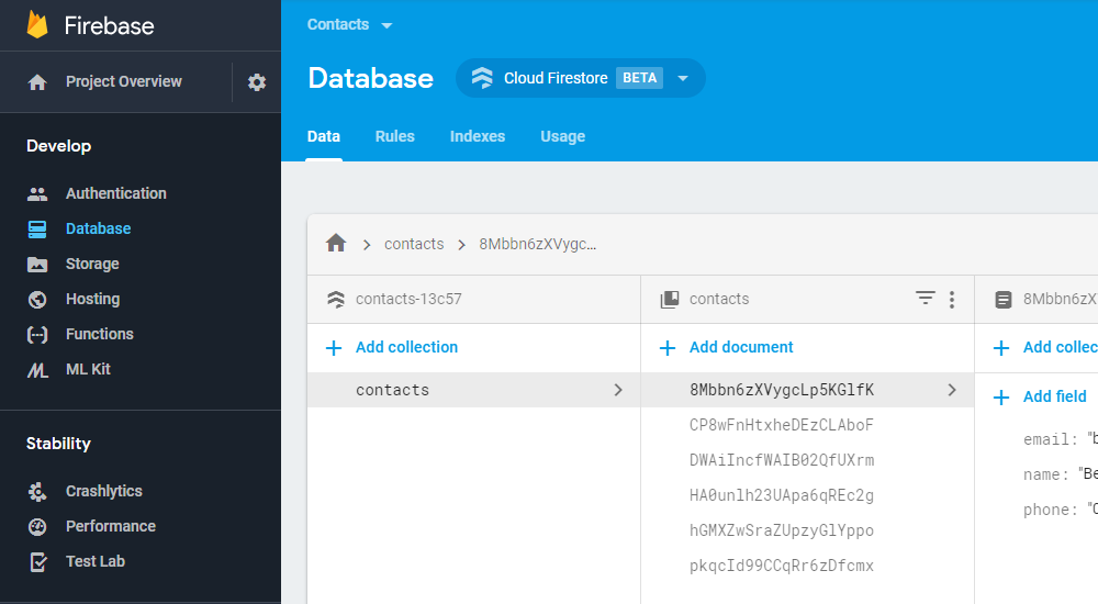 Wiring Up A Firestore Database to jQuery App