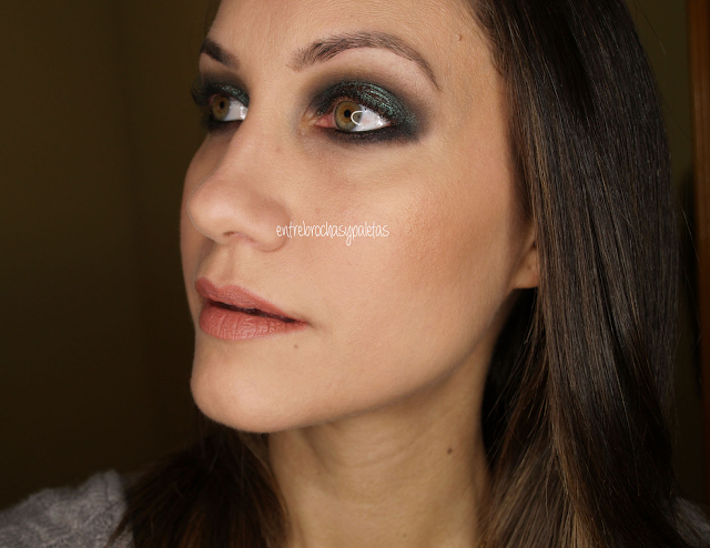 maquillaje pigmento blue brown mac