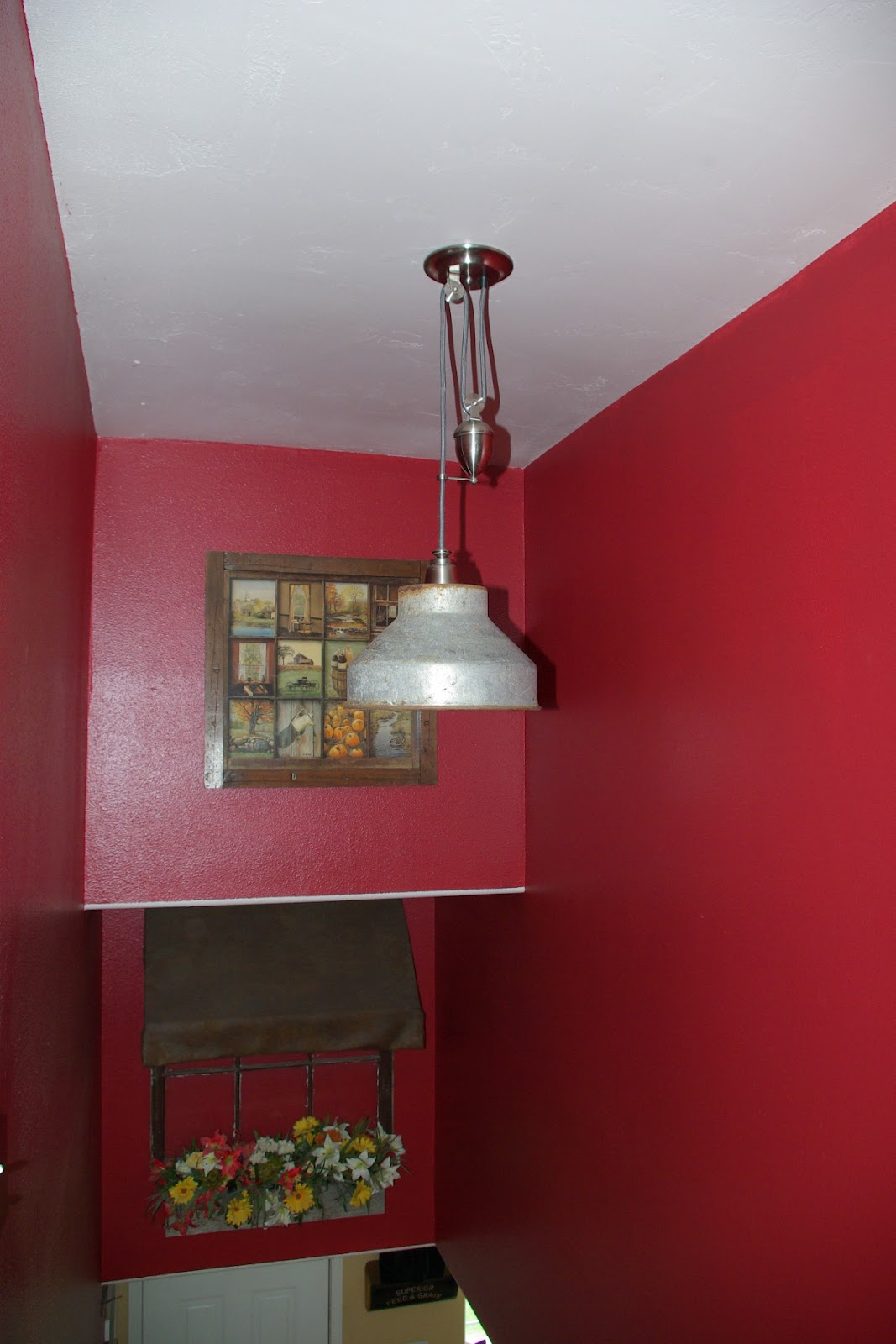 Reclaimed Rustics Pulley Light Fixture