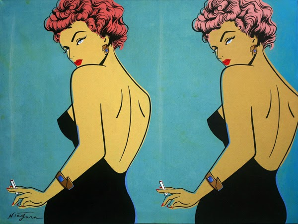Niagara Detroit. Pin-up Noir. Pintura | Paintings