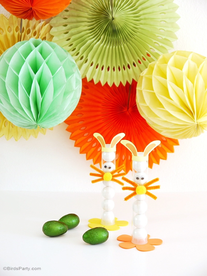 DIY Easter Bunny Treat Tubes for Kids - BirdsParty.com