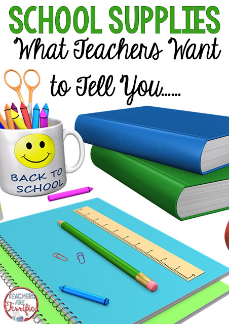 Before you go shopping for school supplies- think about what you really need and what is really needed in the classroom. Those cute Trapper Keepers with the all-around zippers might be what your kids are screaming for, but they don't fit in most desks! Check this blog post for more!