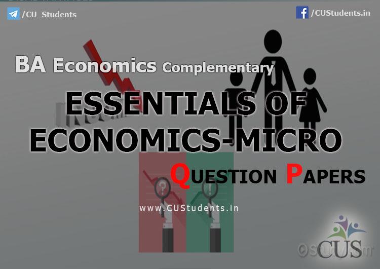 BA Economics Essentials of Economics Micro Previous Question Papers