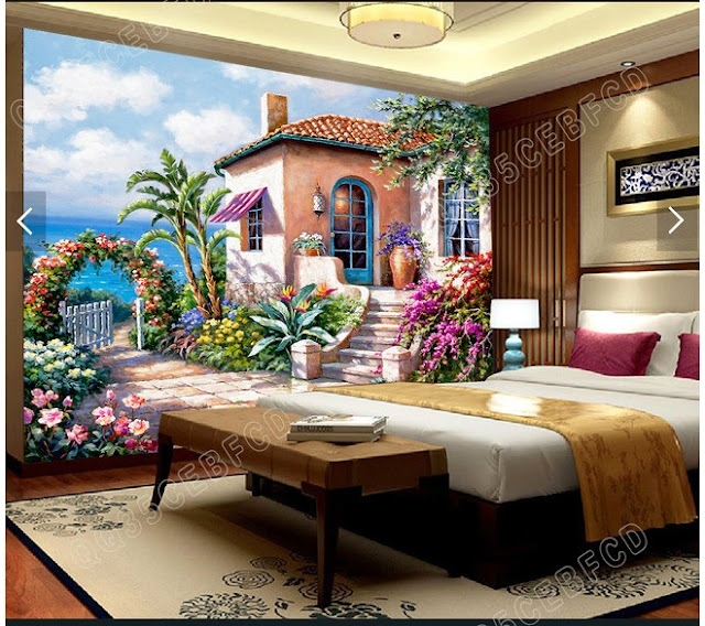 Garden wall murals 3D wallpaper living room bedroom Flower Garden green plants photo wallpaper house