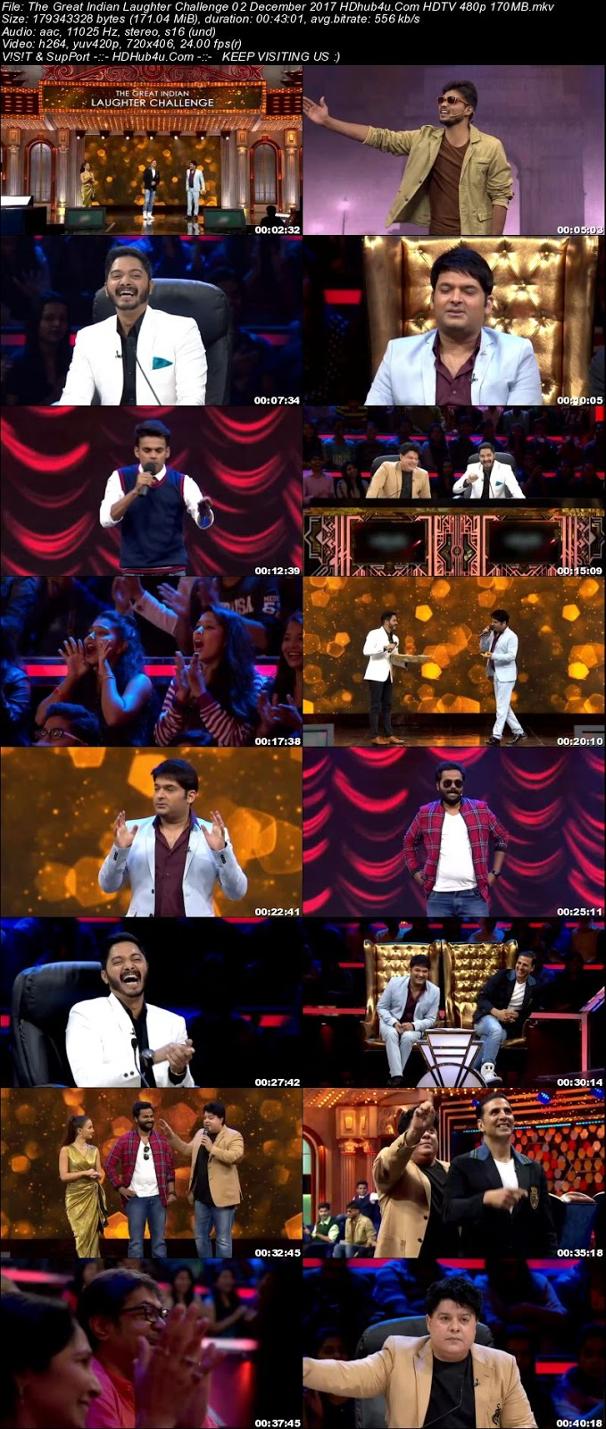 The Great Indian Laughter Challenge 02 December 480p HDTV 170MB Download
