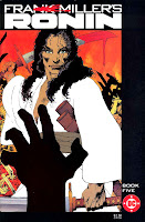 Ronin v1 #5 dc comic book cover art by Frank Miller