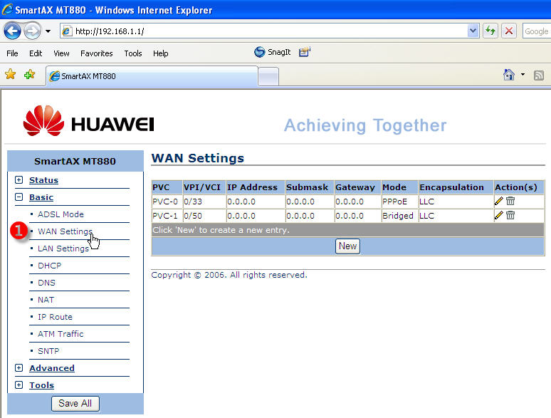 Config router 3bb huawei