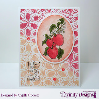 Divinity Designs Stamp Set: Apple Branch,Mixed Media Stencils: Petals, Custom Dies: Pierced Ovals, Ovals, Pierced Rectangles