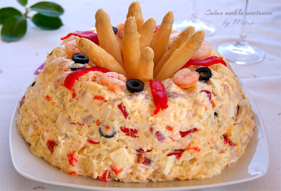 Cocina Con Mina Pastel De Ensaladilla De Patatas Y Marisco
