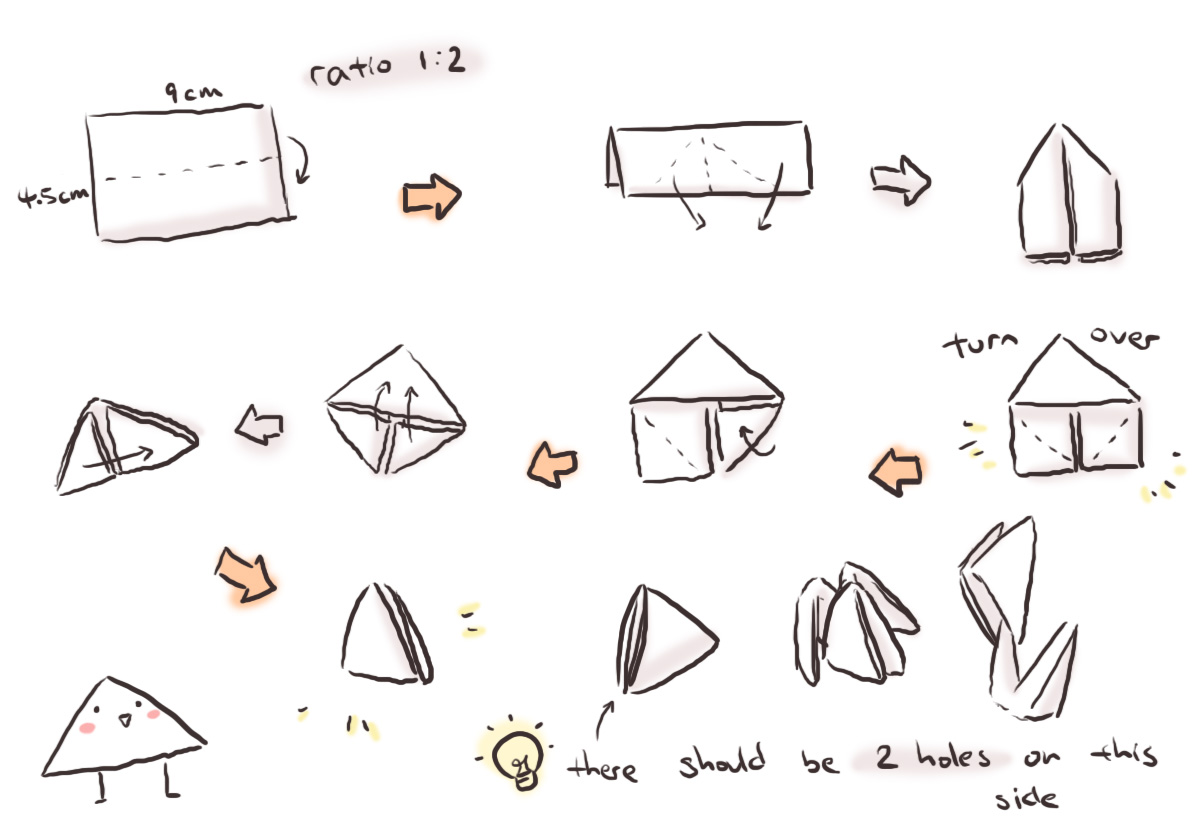 origami diagram motorcycle 2004 chrysler sebring fuse box pin instructions triangle 3d on pinterest