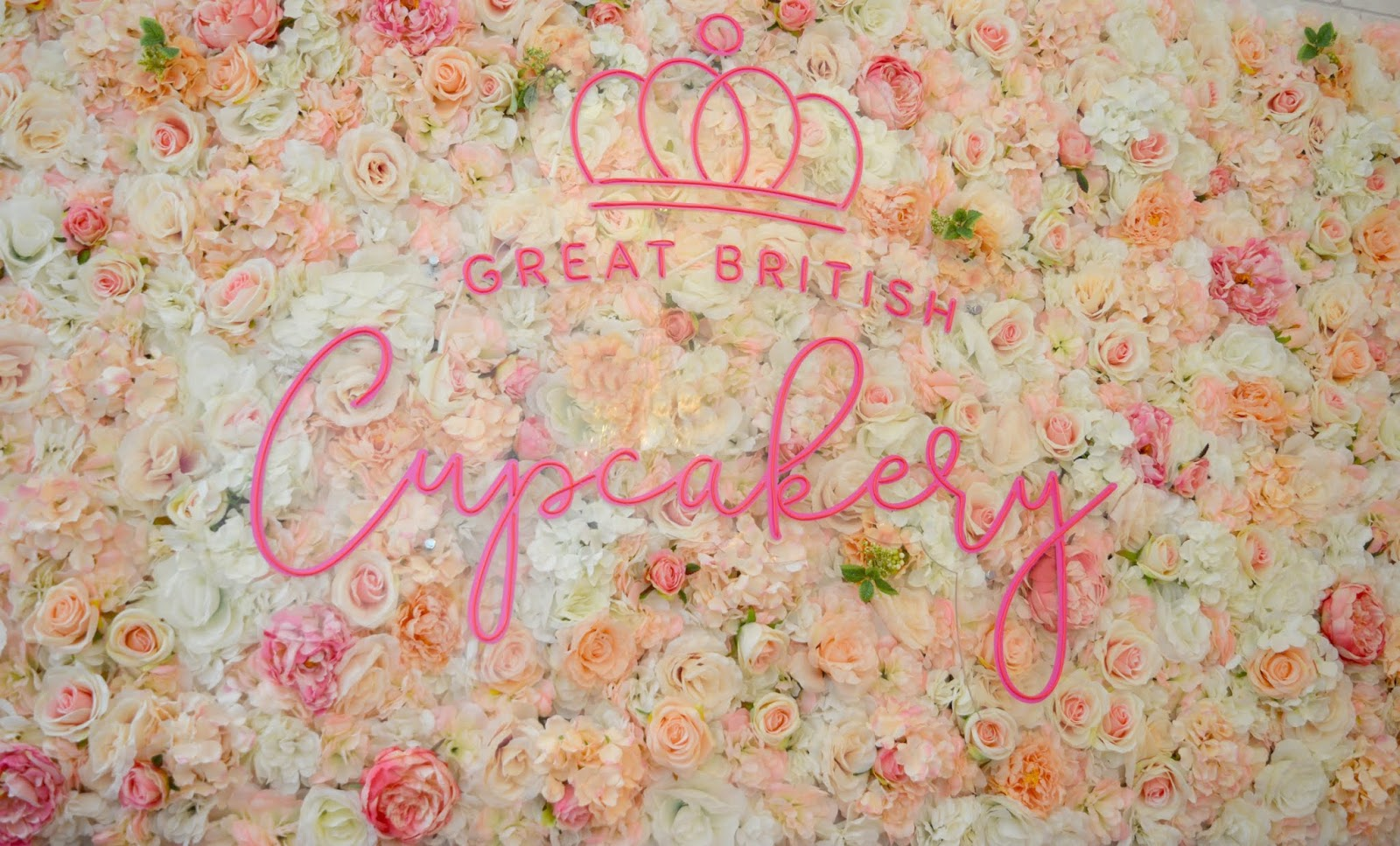 Flower Wall - Great British Cupcakery Instagram Hot Spot of Newcastle