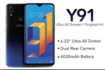 Spesifikasi Dan Harga Vivo Y91 Lengkap