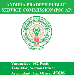 Andhra Pradesh Public Service Commission, PSC AP, APPSC, Andhra Pradesh, PSC, Graduation, Tehsildar, Section Officer, Accountant, Tax Officer, freejobalert, Sarkari Naukri, Latest Jobs, Hot Jobs, appsc logo
