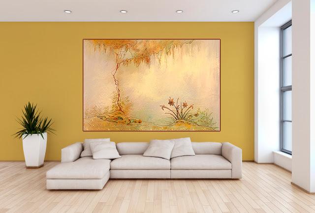 déco murs en couleurs d'automne