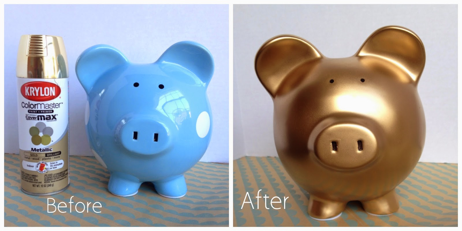 This DIY piggy bank is a brilliant way to upcycle an empty potato chip canister -- and it takes less than 10 minutes to make.