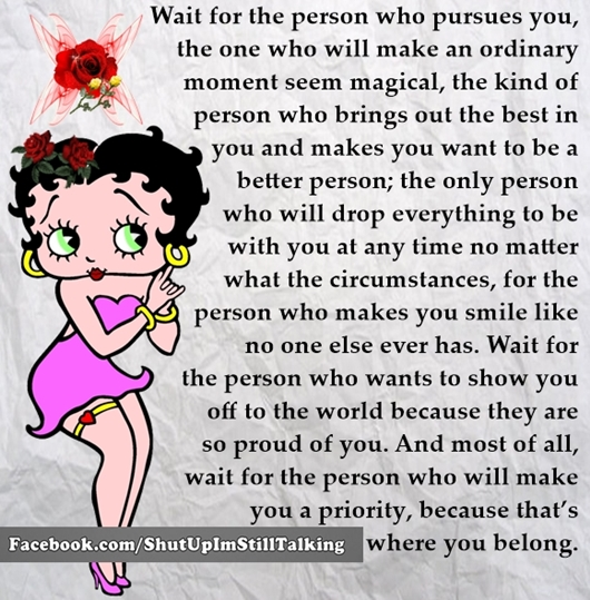 Person who pursues Quote