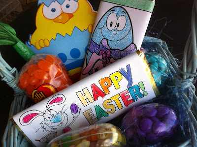 Easter Basket filled with Candy