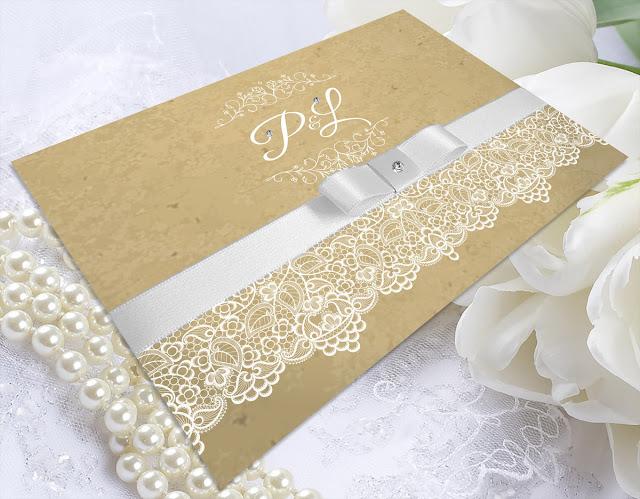 convite renda casamento vintage